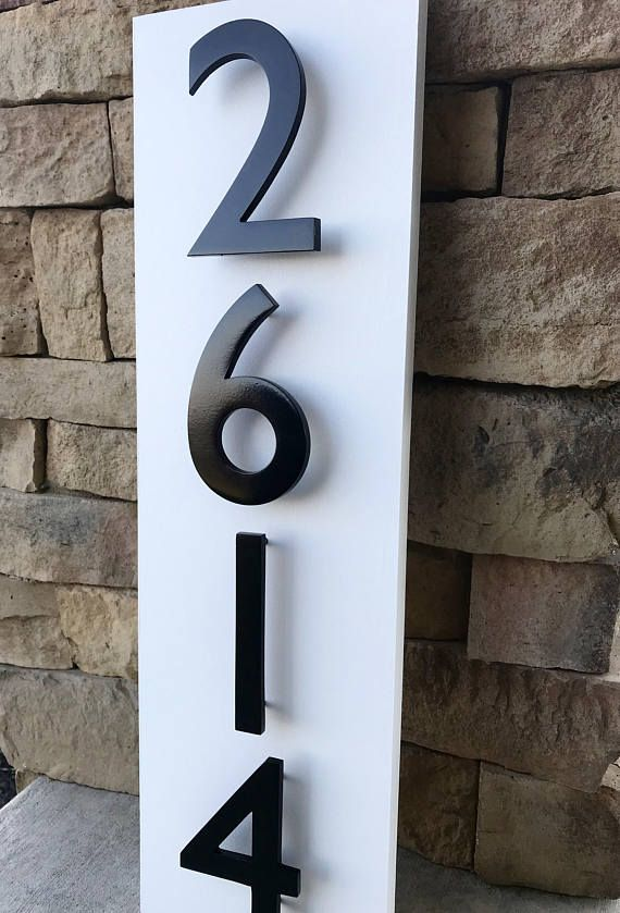 Address Plaque Modern House Numbers House Number Plaque Modern House Number House Numbers Copper House