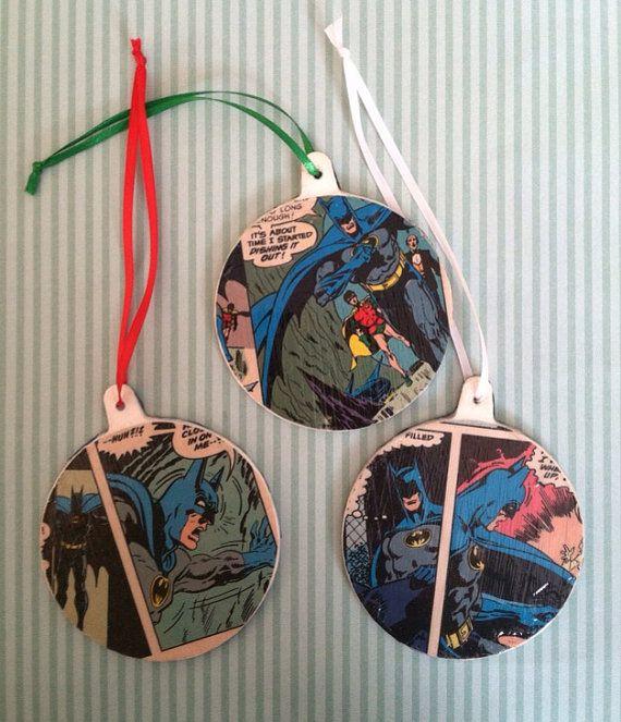 Batman Christmas Ornaments/Gift Tag on Etsy, $14.00