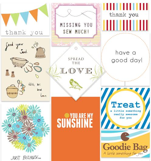 Free Positive Printable Tags ~These uplifting tags are sure to brighten anyone's day.