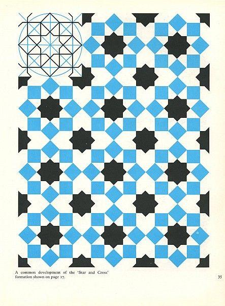 Pattern in Islamic Art - PIA 035 moorish arabesque moroccan muslim geometric tile design #islamicart