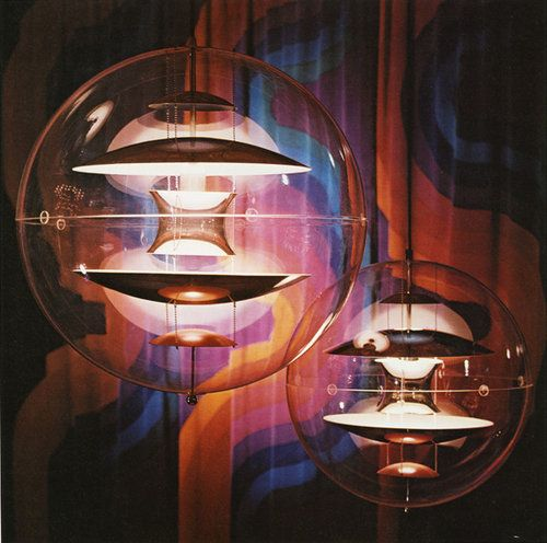 VP Globe ceiling lights. Designed by Verner Panton for Louis Poulsen, Denmark…