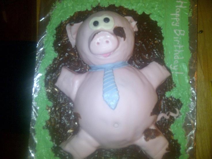 Genuine Randomosity...: A Funny Little Piggy Cake! (and how I made it): Genuine Randomos, Piggy Cakes