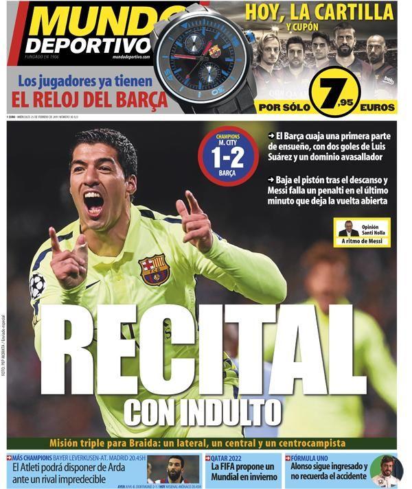 Portada de mañana del diario 'Mundo Deportivo'