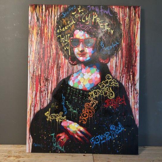 Χειροποίητος Πίνακας Ζωγραφικής Mona Lisa Καμβάς http://nedashop.gr/Spiti-Diakosmhsh/diakosmhtika-toixoy/xeiropoihtos-pinakas-zografikhs-mona-lisa-kamvas