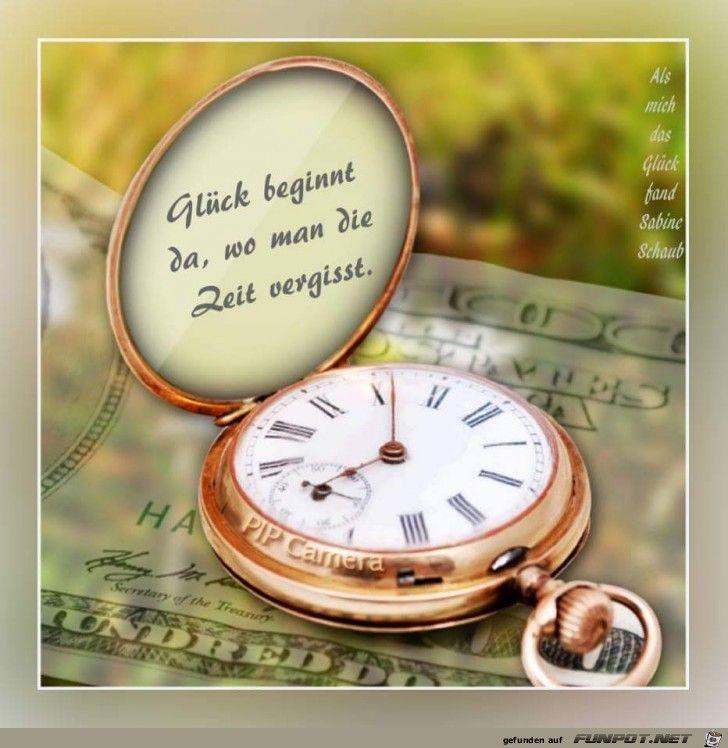 Glück beginnt da, wo man die Zeit vergisst.