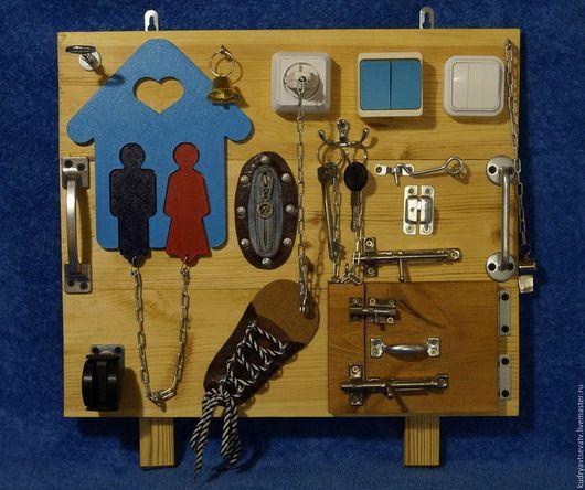 Развивающие игрушки ручной работы. Ярмарка Мастеров - ручная работа. Купить Бизиборд (вариант №1). Handmade. Бизиборд, доска для ребенка