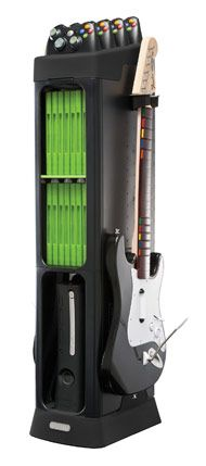 $29.99 Generation Storage Tower for XBOX 360 - Black. if only it charged the controllers that would be perfect