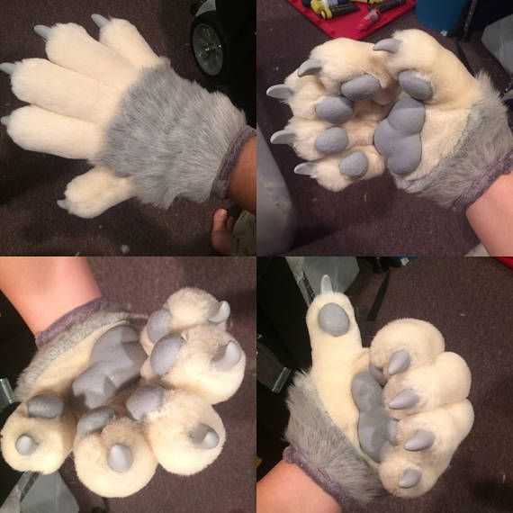 Anthro hand paws five finger animal gloves for fursuit