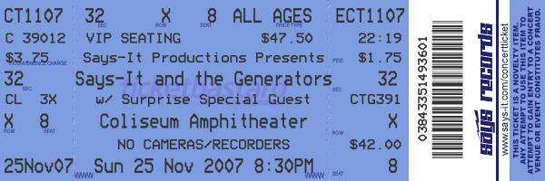 Concert Ticket Maker - also movie marquees, gas station signs, etc - all customizable images