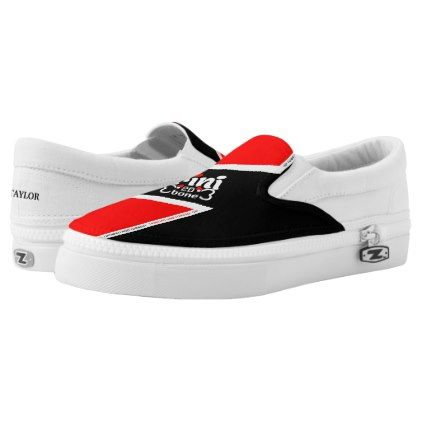 Trinidad and Tobago Flag Slip-On Sneakers - fathers day best dad diy gift idea cyo personalize father family