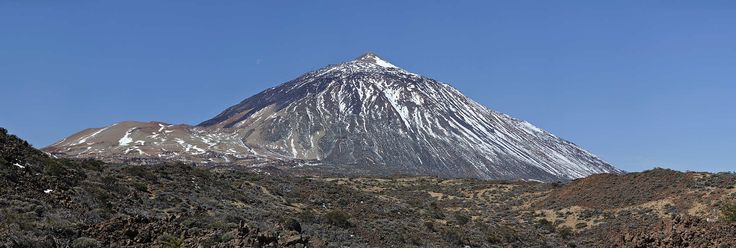 Mount Teide on Teneriffa, this is a volcano and with 3,718-metre (12,198 ft)  the highest mountain in Spain.