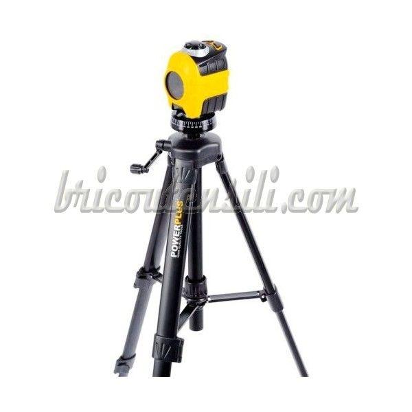 Con trepiede telescopico, portata max mt.10, laser classe A allineamento orizzontale, verticale e a croce.