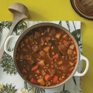 Stephanie's Slow Cooker Stew Recipe from Taste of Home -- shared by Stephanie Rabbitt-Schappacher of West Chester, Ohio