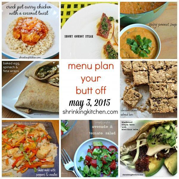 Shrinking Kitchen Menu Plan