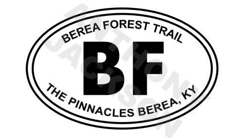 Berea forest trail the pinnacles berea kentucky car decal