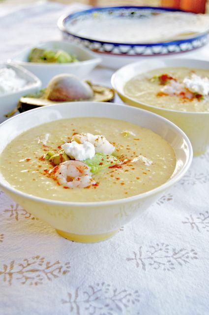 Chilled Southwestern Corn And Shrimp Chowder