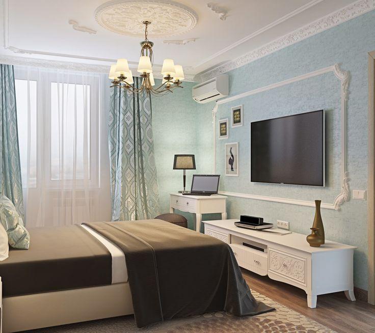 Стиль - классика. В гостиной нашлось место для углового дивана и большого стола. В спальне заказчики захотели свежих оттенков, но чтобы не отходить от классики мы добавили лепнину на потолок, а телевизор поместили в раму из молдингов. Квартира получилась практичной. Сайт: http://саратов-дизайн.рф Группа: vk.com/designsaratov Телефон: 89271332827