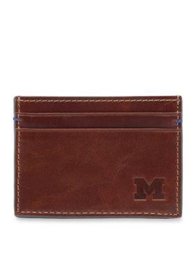 Jack Mason Brown Michigan Hangtime Card Case