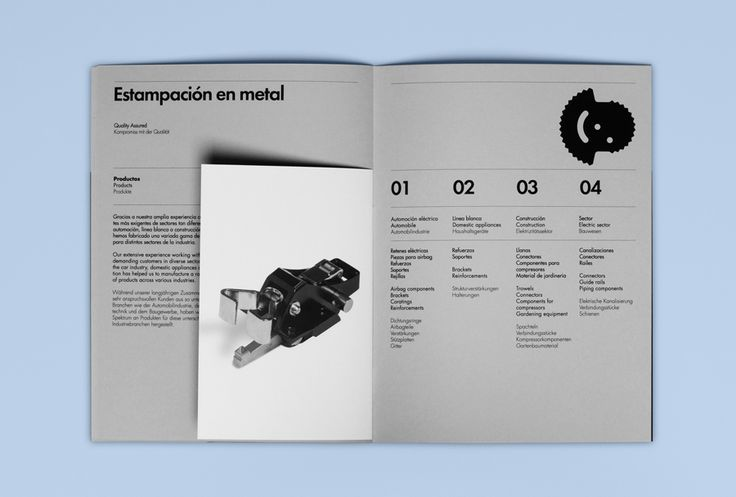 Brochure for Barcelona based cold stamping business Estampaciones Fuerte by Hey