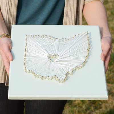 Ohio String Art Tutorial from The Harpster Home (great tutorial)