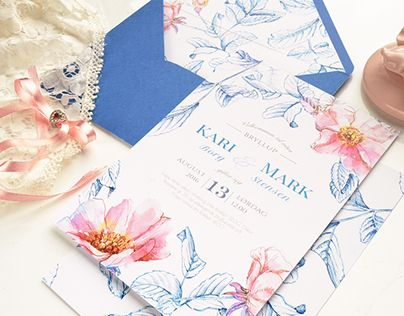 "Check out new work on my @Behance portfolio: """"Briar"" wedding invitation suite  "" http://on.be.net/1RygpFc"