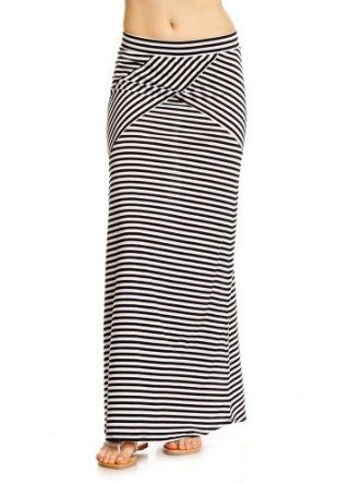 2B XStripe Maxi Skirt 2b Skirts Black/white Stripe-m 2b by bebe. $29.95