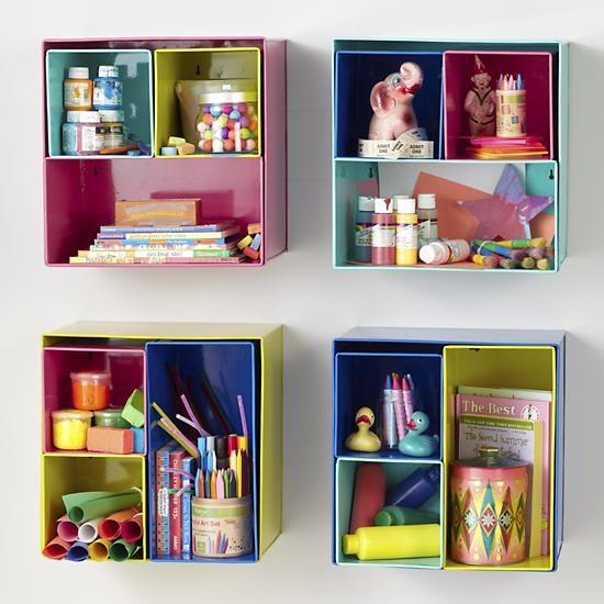 kids storage colorful iron wall bins aqua i couldve bin a wall box set of 4