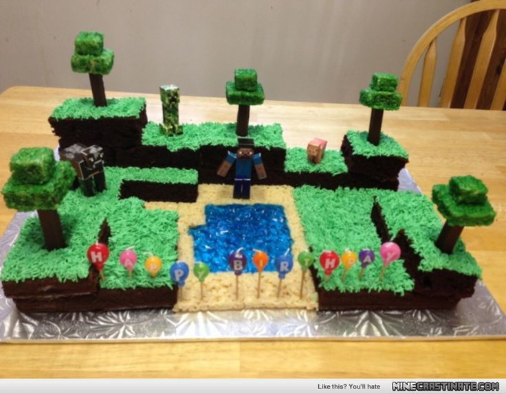 Real Minecraft Cake | My friend made a Minecraft cake for her nieces bday, I thought you ...