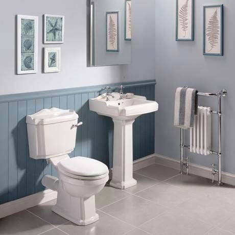 Oxford Close Coupled Traditional Toilet WC with Toilet Seat Profile Image