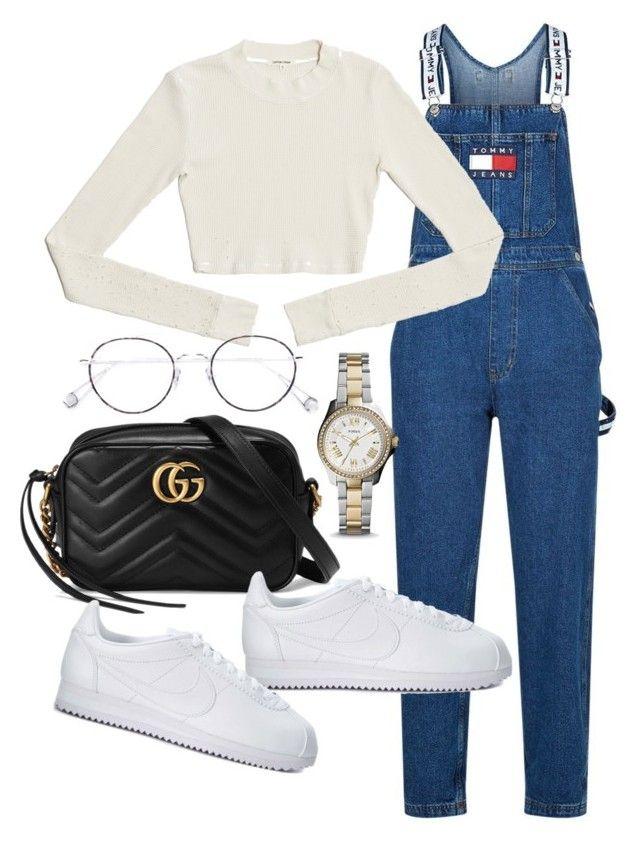 """""""Untitled #22921"""" by florencia95 ❤ liked on Polyvore featuring Tommy Hilfiger, Gucci, NIKE, Ahlem and FOSSIL"""