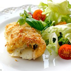 Roladki z kurczaka z pesto, szynką i serem   Kwestia Smaku