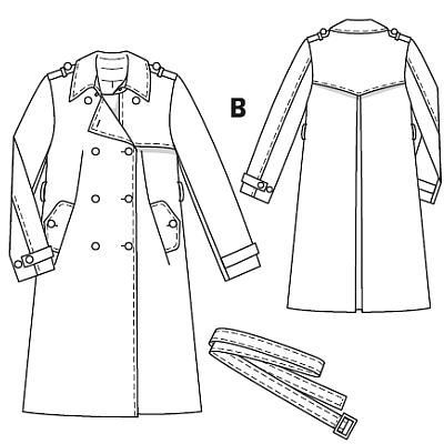 Burdastyle 09-2010-113 A-D, Trench Coat, 36-44