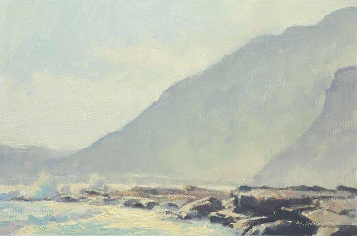 Marc Hanson, 'Atlantic Haze' - oil - 11x14 - field study