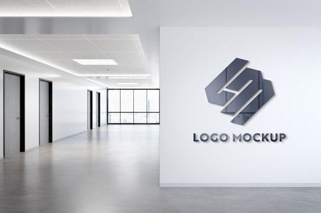 Logo On Office Wall Mockup Logo Mockup Office Walls Real Estate Logo Design