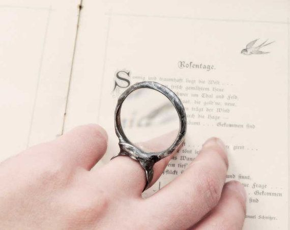 STATEMENT ring MAGNIFER Loupe ring useful ring  ring by MARIAELA, $34.00