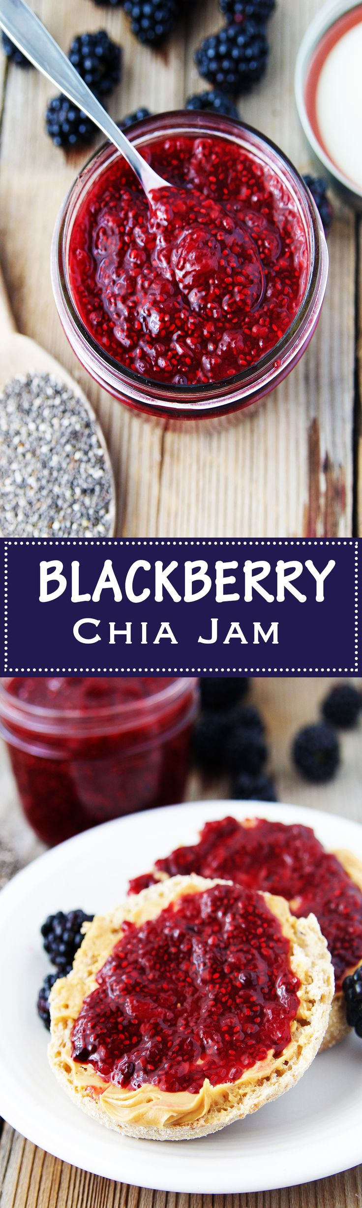 Blackberry Chia Jam is bursting with flavor and packed full of nutrients with a little help from the adorable chia seed.