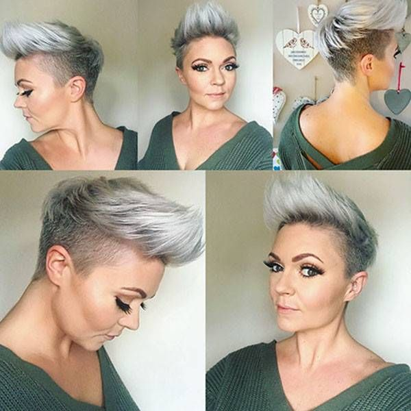 Long Top Shaved Sides Haircut Female Ideas In 2019 Short Hair Shaved Sides Shaved Side Hairstyles Thick Hair Styles