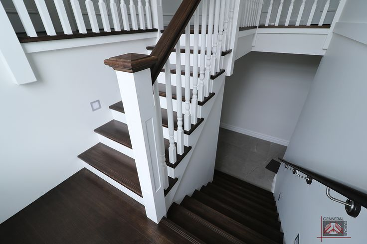 Hampton style stair | Made by Genneral Staircase  Treads and Handrails of Victorian Ash