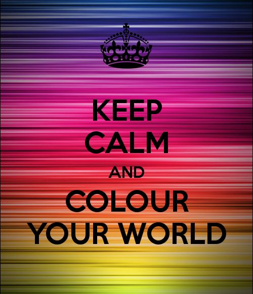 Manten la calma y colorea el mundo