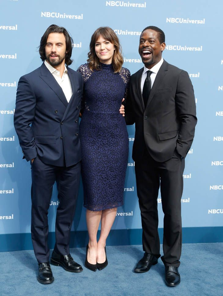 Mandy Moore, Milo Ventimiglia, and Sterling K Brown promote new show This Is Us at NBCUniversal Upfront and trailer breaks records|Lainey Gossip Entertainment Update