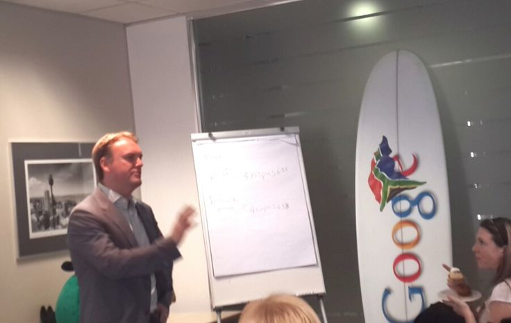 Top Agencies in Gauteng invited to #Google #Engage breakfast.  Presentation by Luke Mckend, County Manage Google SA.