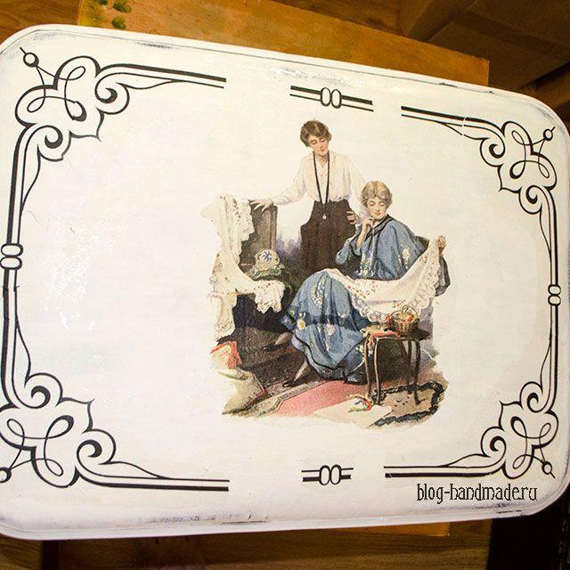 Пошаговый фото мастер класс по декупажу старого чемодана своими руками салфетками и с эффектом состаривания в стиле шебби