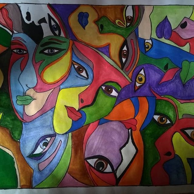 New The 10 Best Art Ideas Today With Pictures The One With Many Faces Art Artist Paintings Artistoninstagram Fac Face Sketch Artist Painting Painting