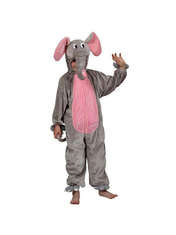 Child Age 3-4 Kidz Novelty Elephant Fancy Dress Animal Costume (Small)