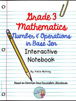 This 42-page product is just one of the domains from the third grade Mathematics Common Core Curriculum Standards.  It is a Mathematics Interactive Notebook aligned to the Common Core Curriculum Standards.  This set of notes and foldables are created to be used in a marble notebook.