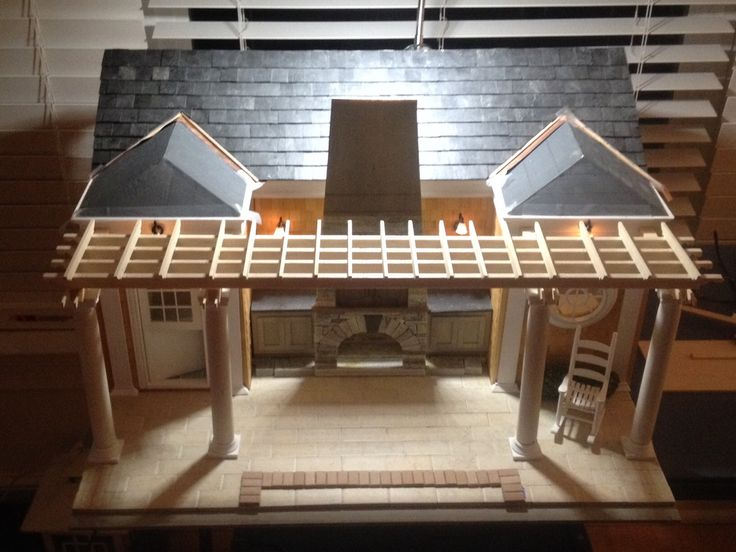 This Dollhouse, Under Construction Was Inspired By Architect John Malick  And Created By Denise Bees · Summer KitchenPool ...