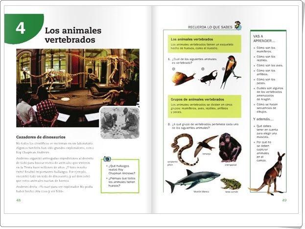 """Unidad 5 de Ciencias de la Naturaleza de 3º de Primaria: """"Los vertebrados"""""""