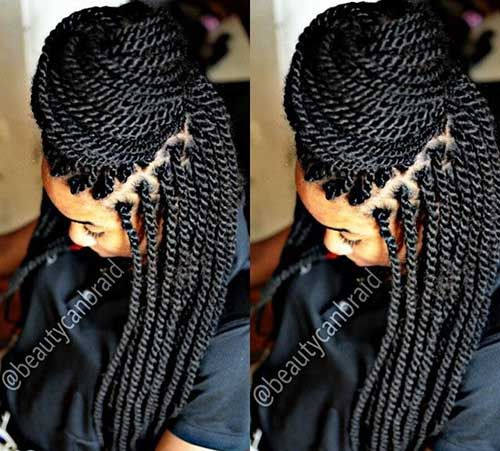 17.Afro Hairstyle with Braids