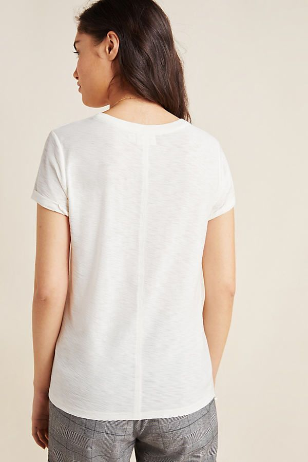 Lindsey Spliced Tee by Nation LTD in Grey Size: M, Women's Tees at Anthropologie 17