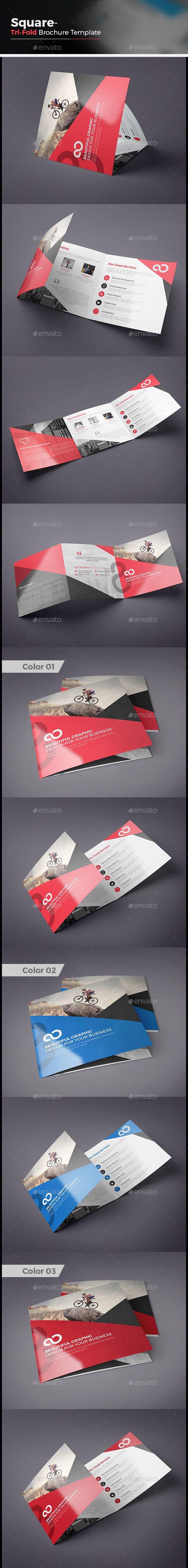 Square Tri fold Business Brochure Template Vector EPS, AI Illustrator #design Download: http://graphicriver.net/item/square-tri-fold-business-brochure/14071811?ref=ksioks